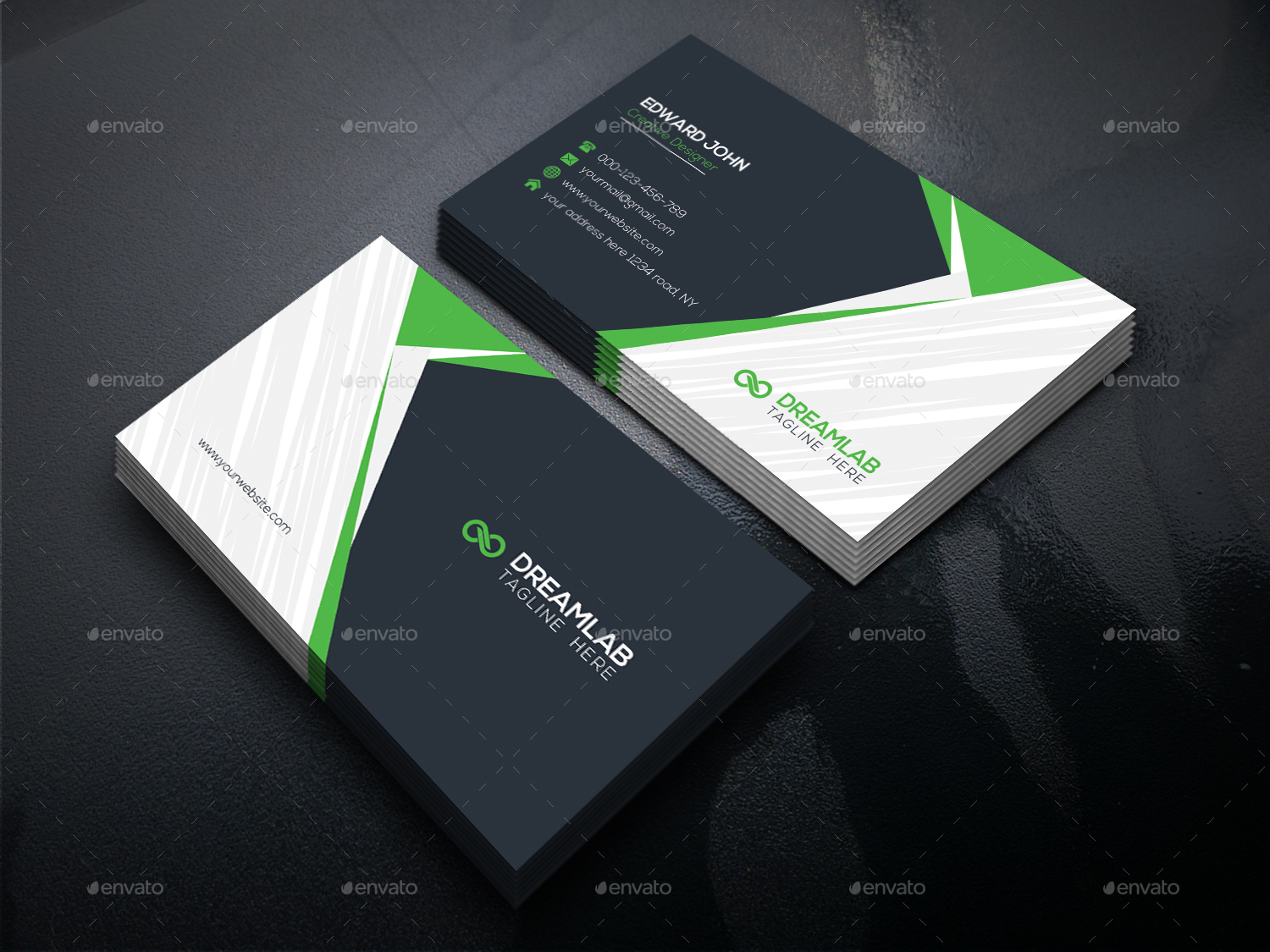 Business Card by DreamStudio-eg   GraphicRiver