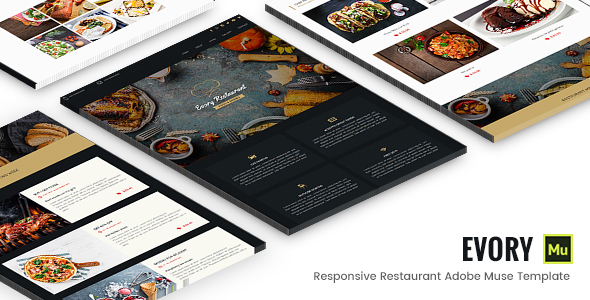 Evory - Responsive Restaurant Adobe Muse Template - Muse Templates