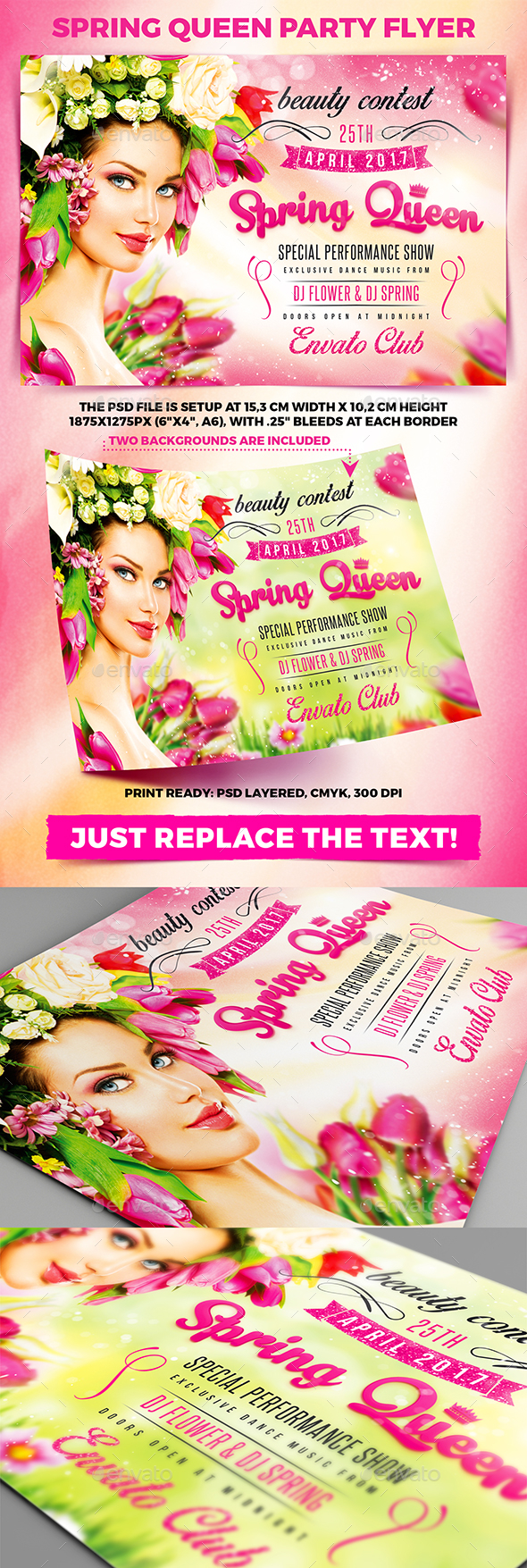 Spring Queen Party Flyer vol.2