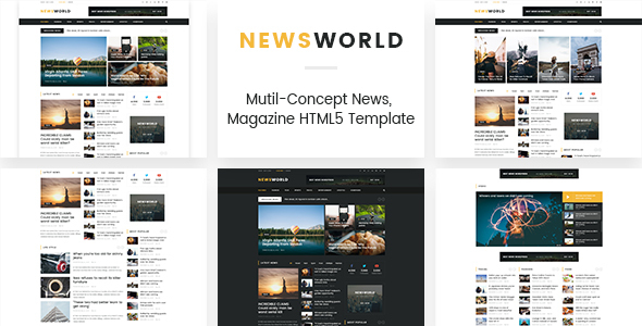 Newsworld | Mutil-Concept Magazine HTML5 Template - Experimental Creative