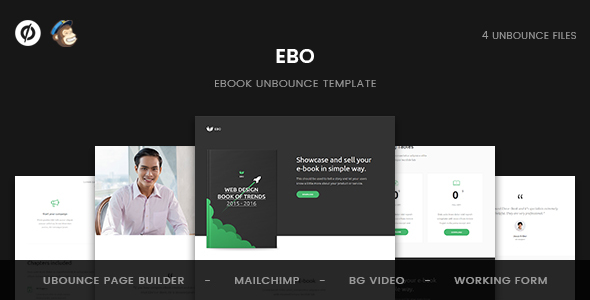 Image of Ebo - Ebook Unbounce Template