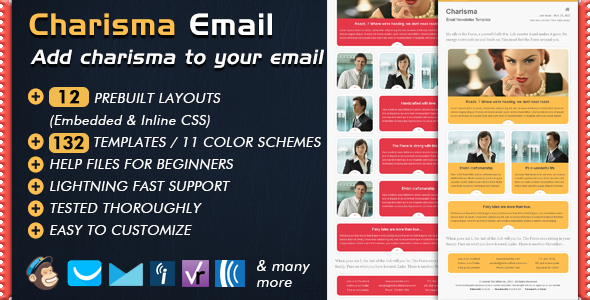 Charismatic Emailer Email Newsletter Template - Email Templates Marketing
