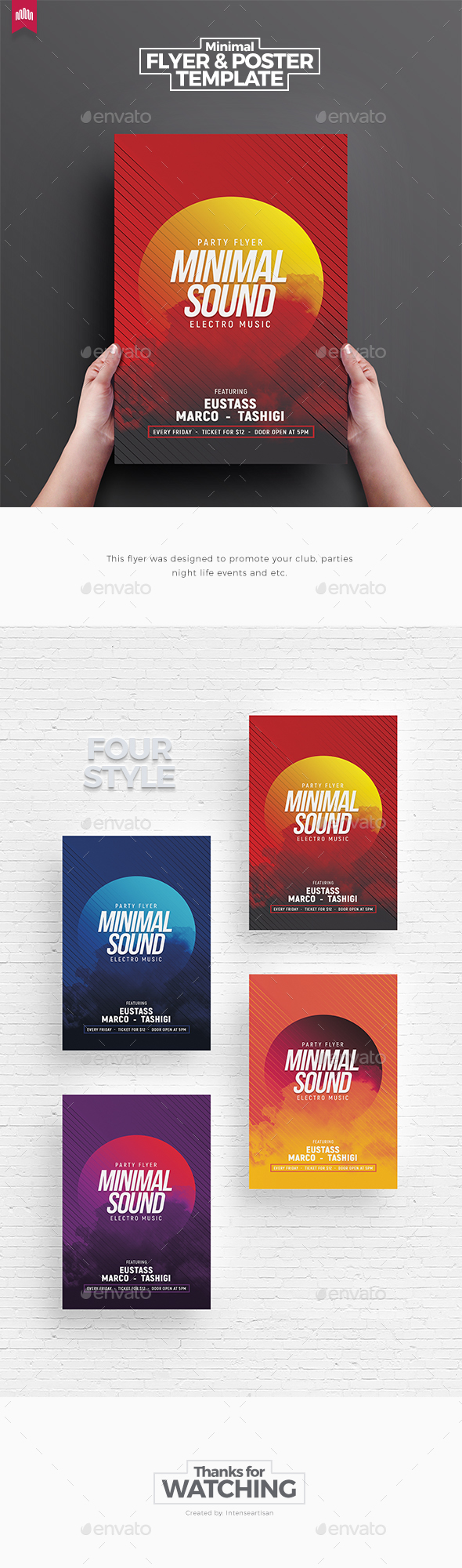 Minimal Sound - Flyer Template - Clubs & Parties Events