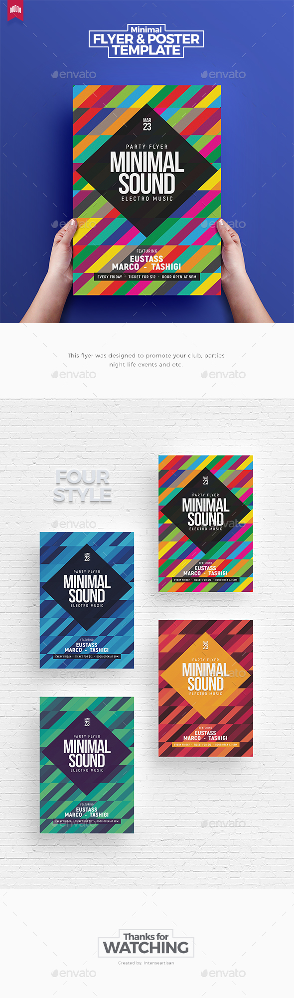 Minimal Sound V.2 - Flyer Template - Clubs & Parties Events
