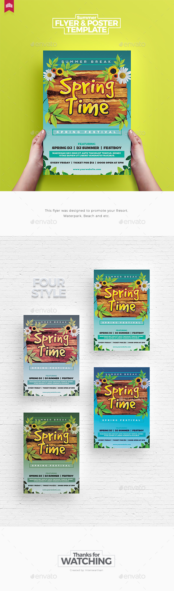 Spring Time Summer - Flyer Template - Clubs & Parties Events