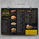 Vintage A3 Food Menu - 3 Color Versions