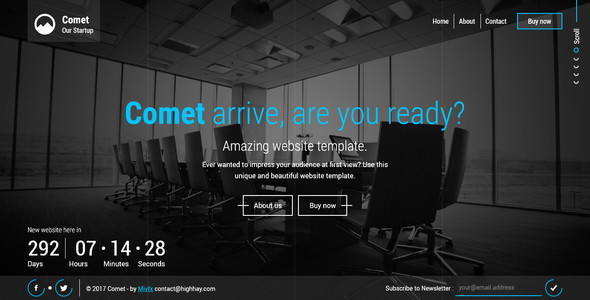 Comet – Beautiful Creative Template for Coming Soon Page