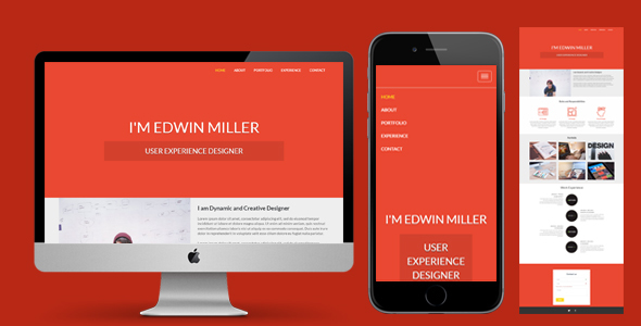 One Page Personal Portfolio Template