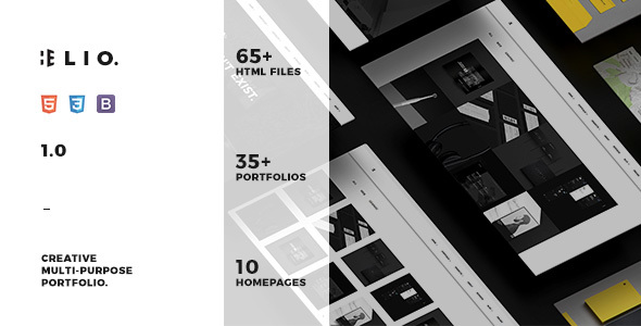 Elio – Creative & Minimalist Multi-Purpose Portfolio Template