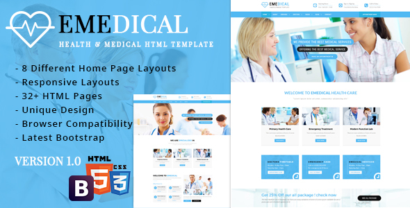 eMedical - Health & Medical Responsive Template - Health & Beauty Retail
