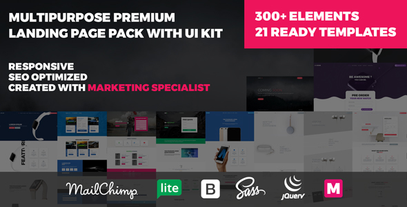 MOODI – Multipurpose Premium Landing Page Pack with UI Kit