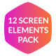 12 Screen Elements Pack - VideoHive Item for Sale