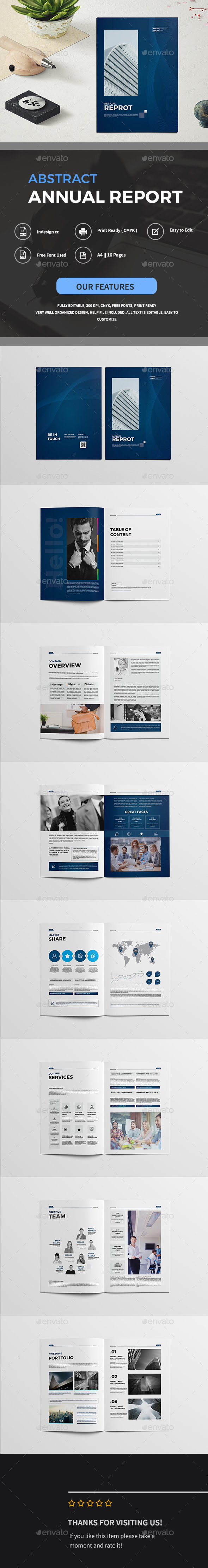 Abstract Annual Reprot Brochure - Corporate Brochures