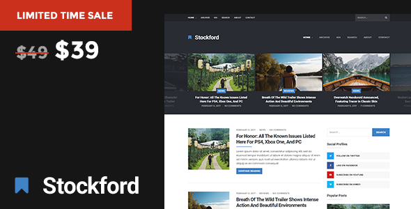The Stockford – Responsive WordPress Blog Theme