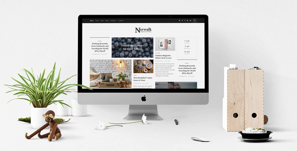 Norwalk – Responsive HTML5 Magazine-Styled Blog - Experimental Creative