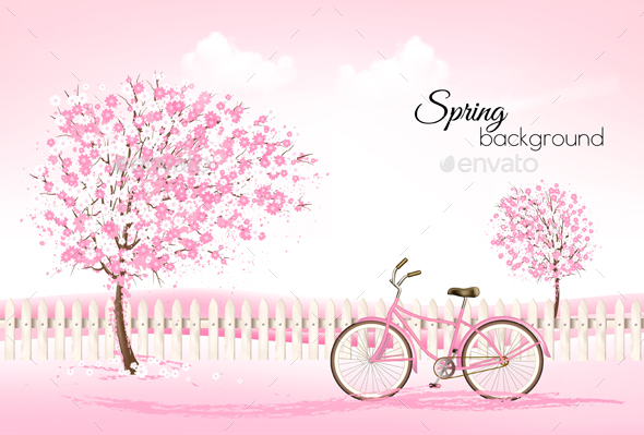 Beautiful Spring Nature Background With Trees - Seasons Nature