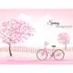 Beautiful Spring Nature Background With Trees - GraphicRiver Item for Sale