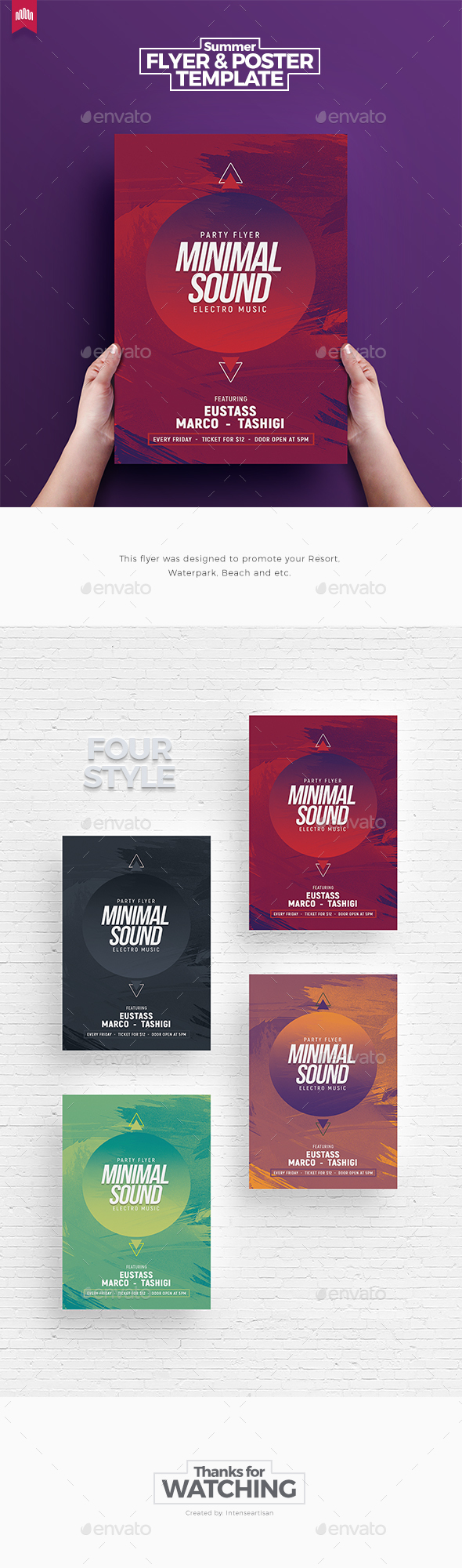 Minimal Sound V.3 - Flyer Template - Clubs & Parties Events
