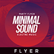 Minimal Sound V.3 - Flyer Template