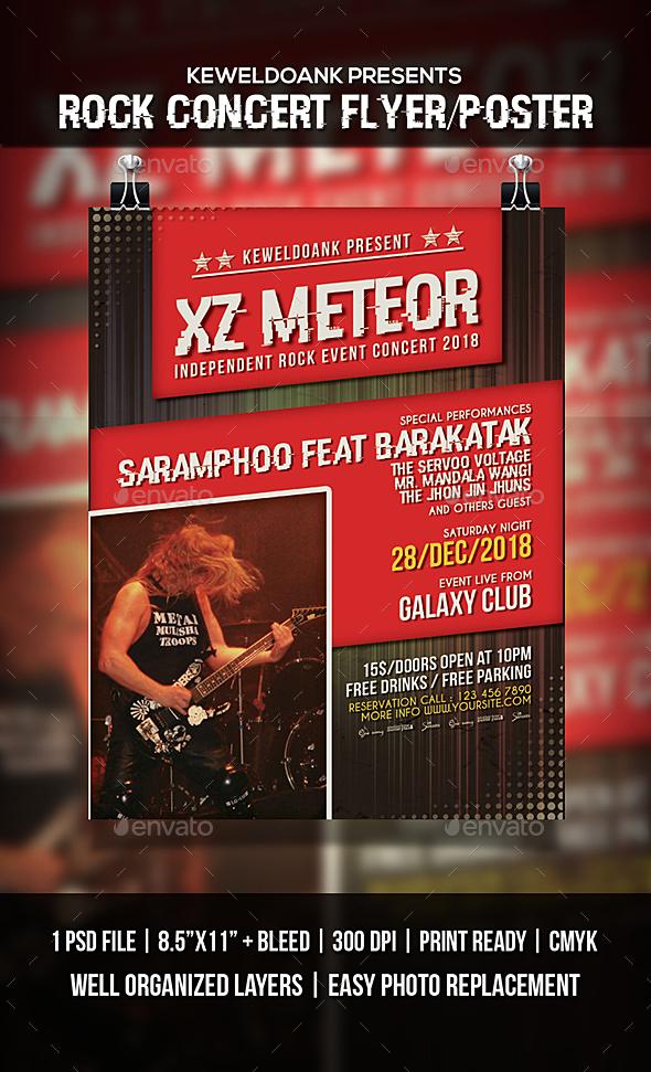 Rock Concert Flyer / Poster - Events Flyers