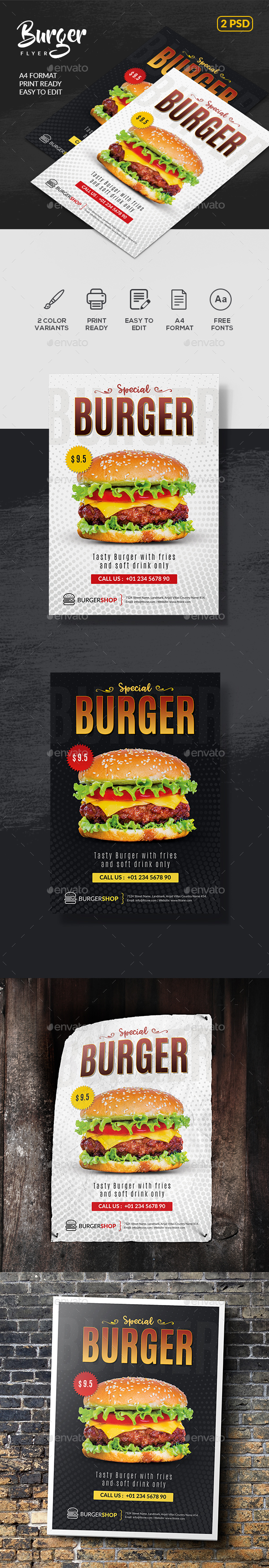 Burger Flyer Templates - Restaurant Flyers