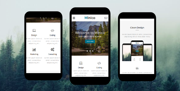Minico – Responsive Multipurpose Mobile Template