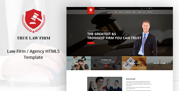 TRUE LAW – Law Firm / Agency Template