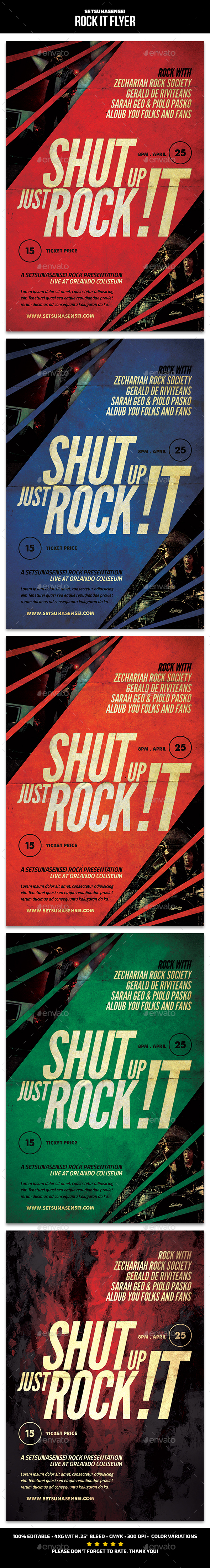 Rock It Flyer - Concerts Events
