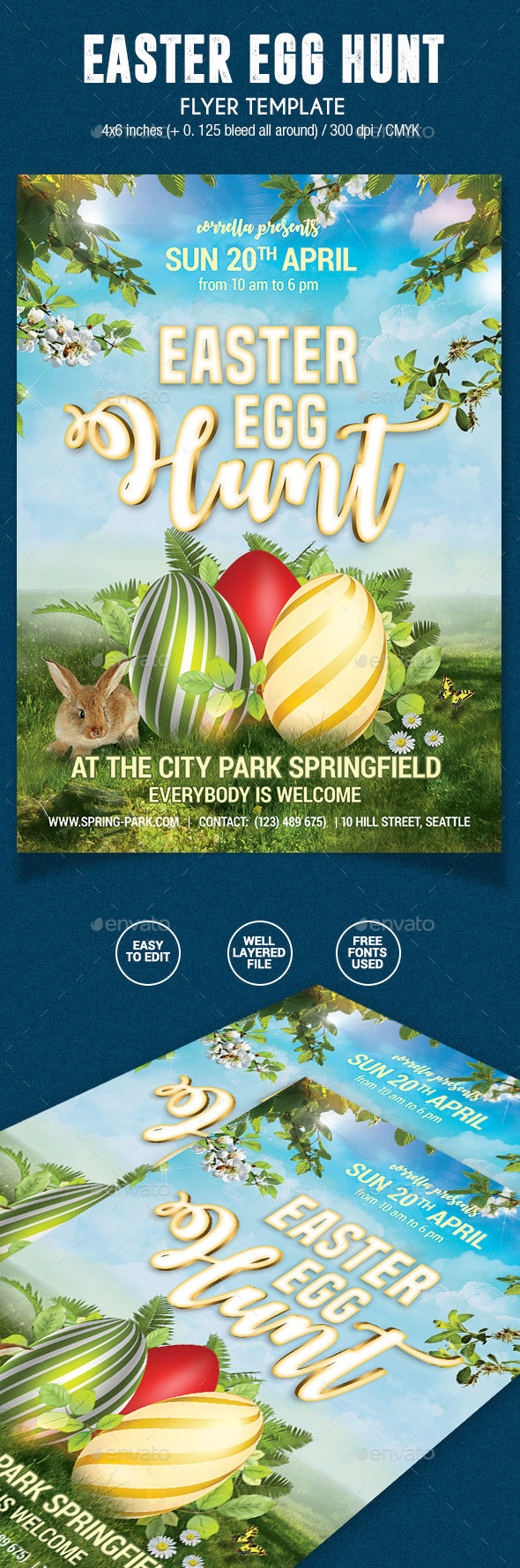 Easter Egg Hunt Flyer - Holidays Events