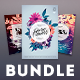 Hipster Flowers Flyer Bundle - GraphicRiver Item for Sale