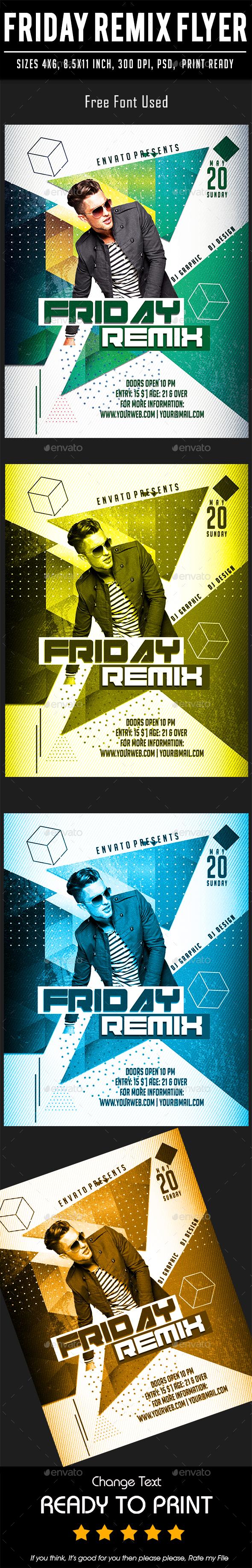 Friday Remix Flyer - Events Flyers