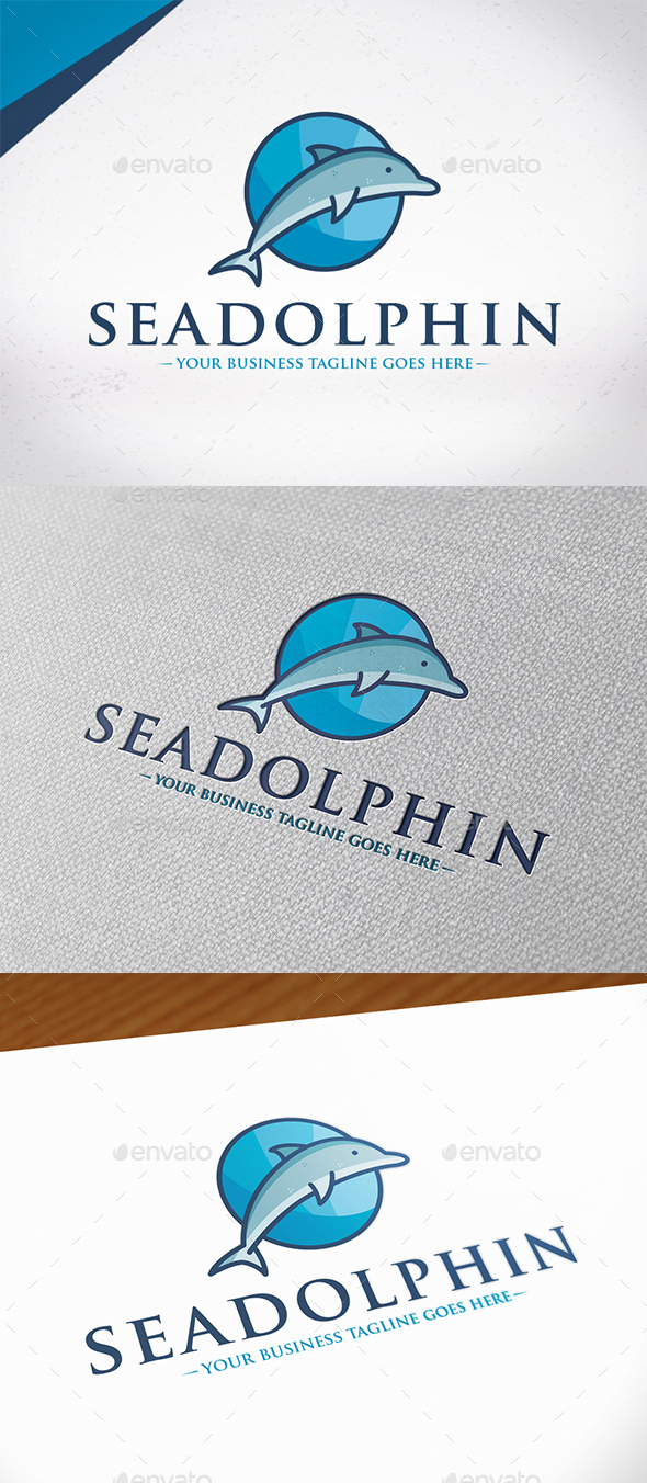 Sea Dolphin Logo Template by BossTwinsMusic | GraphicRiver
