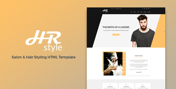 HR style - Salon & Hair Styling HTML Template - Health & Beauty Retail