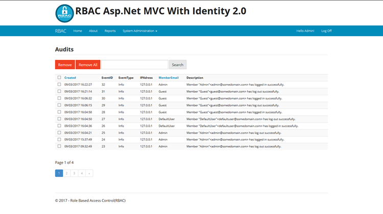Roles Based Access Control(RBAC) with ASP.NET MVC Identity