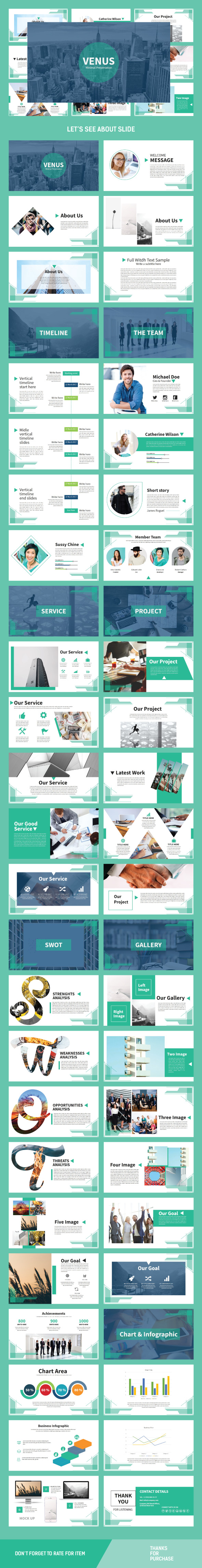 Venus Multipurpose Template - Business PowerPoint Templates