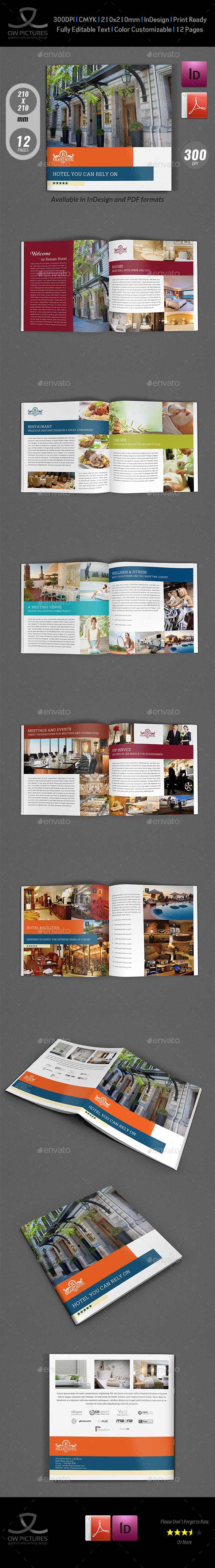Hotel and Motel Brochure Template Vol.2 - 12 Pages - Brochures Print Templates