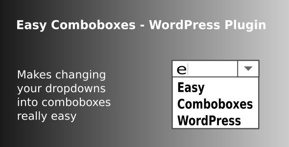 Easy Comboboxes - WordPress Plugin - CodeCanyon Item for Sale