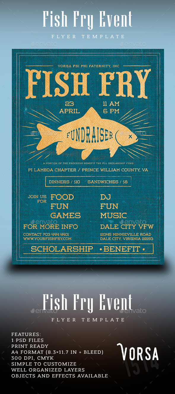 Fish Fry Event Flyer - Events Flyers