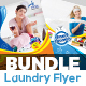 Laundry & Dry Cleaning Services Flyer Bundle V2