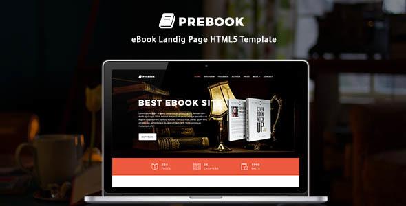 Prebook – eBook Landing Page HTML5 Template
