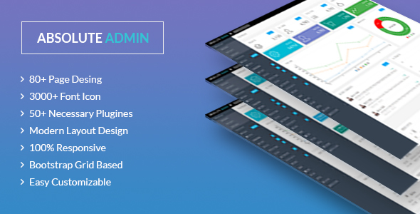 Absolute – Bootstrap/Angular Admin/Dashboard Template