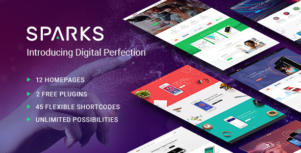 Sparks - A Modern Theme for App Creators, Startups, and Digital Businesses