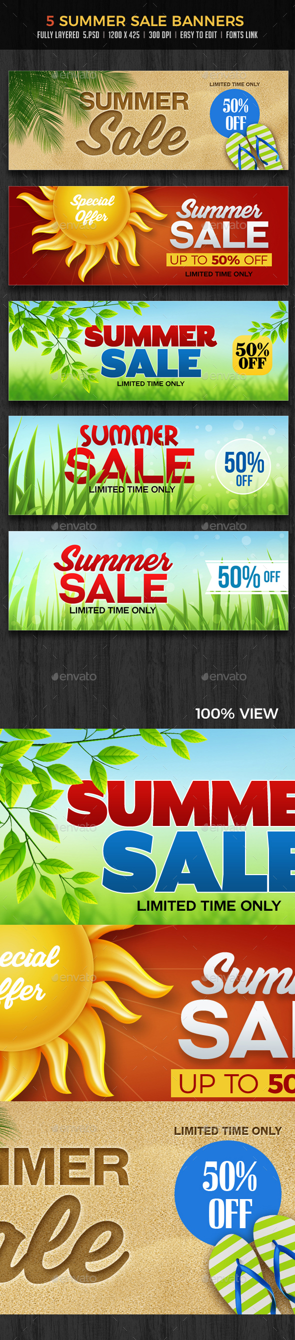 Sale / Summer Sale Banners - Banners & Ads Web Elements