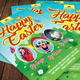 Happy Easter DJ Party Flyer Template 155