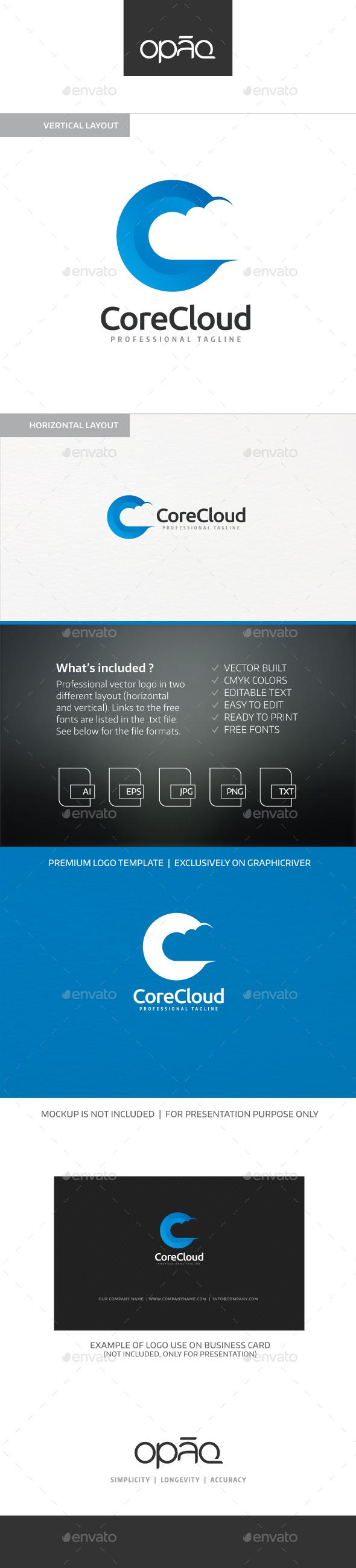 Cloud Core C Letter Logo - Letters Logo Templates