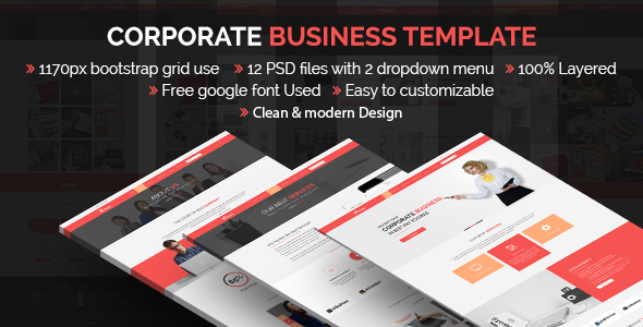 Themex- Corporate Business Template - Corporate PSD Templates