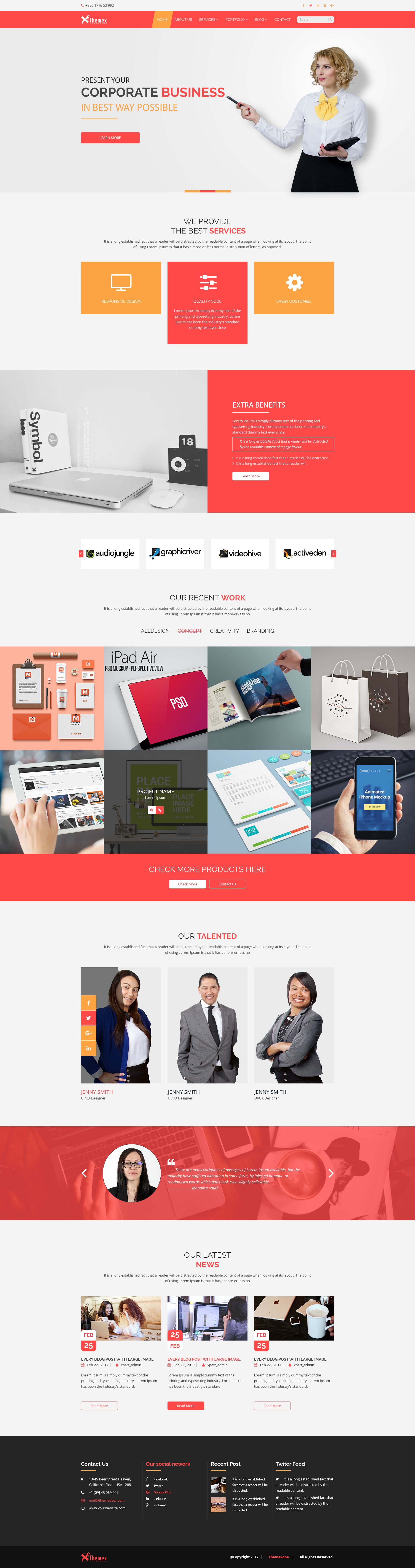 Themex Corporate Business Template By Themexone Themeforest
