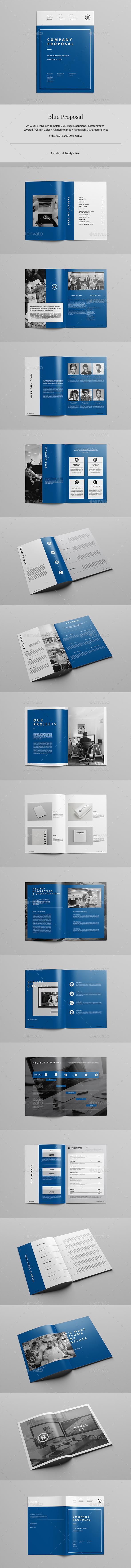 Blue Proposal - Corporate Brochures