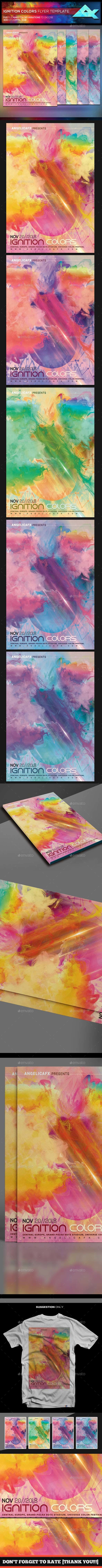 Ignition Colors Flyer/Poster Template - Events Flyers