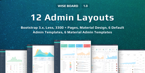WiseBoard | Responsive Multi-Purpose Admin Template
